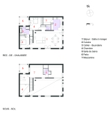 Plan grange landaise renovation architecte hugo LERAY